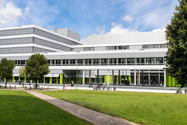 Das Gebäude X auf dem neuen Campusgelände